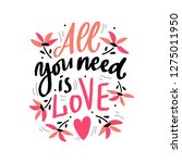 hand lettering phrase all you... | Shutterstock .eps vector #1275011950