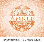 ankle orange mosaic emblem with ... | Shutterstock .eps vector #1275014326