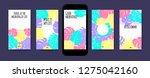 pastel tropic frames for... | Shutterstock .eps vector #1275042160