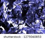 distress seamless pattern. blue ... | Shutterstock . vector #1275060853