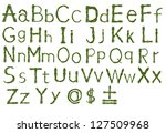 english alphabet | Shutterstock . vector #127509968