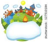 children's camp   Shutterstock . vector #127510184