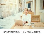 technology and travel. working... | Shutterstock . vector #1275125896