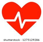 heart pulse vector icon symbol. ... | Shutterstock .eps vector #1275129286