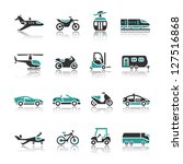 set of transport icons   two | Shutterstock .eps vector #127516868