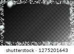 realistic snow background.... | Shutterstock .eps vector #1275201643