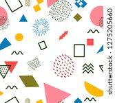 abstract seamless pattern  hand ... | Shutterstock .eps vector #1275205660