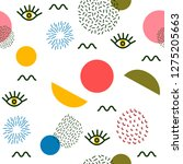abstract seamless pattern  hand ... | Shutterstock .eps vector #1275205663