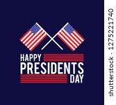 president day poster with red... | Shutterstock .eps vector #1275221740