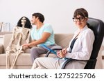 young patient visiting... | Shutterstock . vector #1275225706