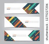 banner with flat geometric... | Shutterstock .eps vector #1275227206