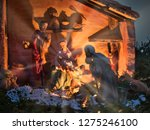 nativity scene jesus kid statue ... | Shutterstock . vector #1275246100