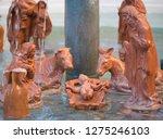 nativity scene jesus kid statue ... | Shutterstock . vector #1275246103