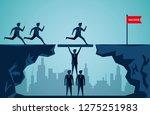 business teamwork concept.... | Shutterstock .eps vector #1275251983
