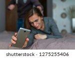 female  domestic violence.... | Shutterstock . vector #1275255406