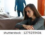 domestic  female violence.... | Shutterstock . vector #1275255436