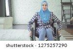 beautiful young woman in hijab... | Shutterstock . vector #1275257290
