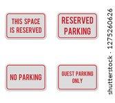 horizontal no parking signs....   Shutterstock .eps vector #1275260626