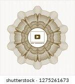 brown passport style rosette... | Shutterstock .eps vector #1275261673