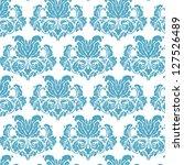 blue vintage damask background | Shutterstock .eps vector #127526489