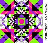 seamless geometric pattern in... | Shutterstock .eps vector #1275269359