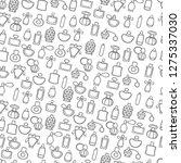gray doodle perfume bottles on... | Shutterstock .eps vector #1275337030