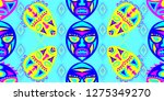 seamless folk pattern. ethnic... | Shutterstock .eps vector #1275349270