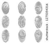 outline stroke fingerprint flat ...   Shutterstock .eps vector #1275354316
