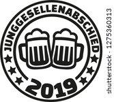stag night 2019 beer german... | Shutterstock .eps vector #1275360313