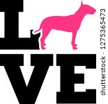 bull terrier love with... | Shutterstock .eps vector #1275365473