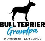 bull terrier grandpa silhouette ... | Shutterstock .eps vector #1275365479