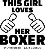 this girl loves her boxer... | Shutterstock .eps vector #1275365503
