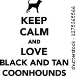 keep calm and love black and... | Shutterstock .eps vector #1275365566