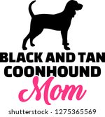 black and tan coonhound mom... | Shutterstock .eps vector #1275365569