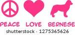 peace  love  bernese mountain...   Shutterstock .eps vector #1275365626