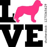 bernese mountain love with pink ...   Shutterstock .eps vector #1275365629