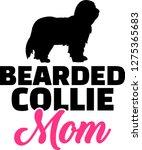 bearded collie dog mom...   Shutterstock .eps vector #1275365683