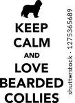 keep calm and love bearded...   Shutterstock .eps vector #1275365689