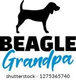 beagle grandpa silhouette in... | Shutterstock .eps vector #1275365740