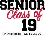 senior class of 2019 | Shutterstock .eps vector #1275366100