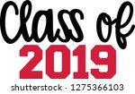 class of 2019 script | Shutterstock .eps vector #1275366103