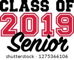 class of 2019 senior | Shutterstock .eps vector #1275366106