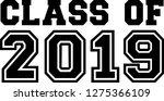 senior class of 19 | Shutterstock .eps vector #1275366109