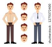 vector set of one office worker ...   Shutterstock .eps vector #1275372400