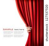 background with red velvet... | Shutterstock .eps vector #127537520