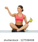 picture of sporty woman with