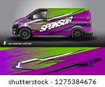 cargo van graphic vector.... | Shutterstock .eps vector #1275384676
