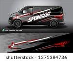 cargo van graphic vector.... | Shutterstock .eps vector #1275384736
