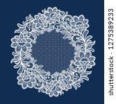 lace flowers decoration element   Shutterstock .eps vector #1275389233