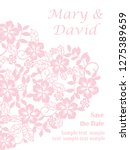 invitation card with heart from ... | Shutterstock .eps vector #1275389659
